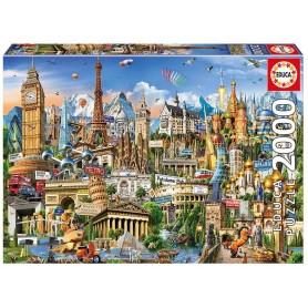 Puzzle Educa Símbolos de Europa de 2000 piezas