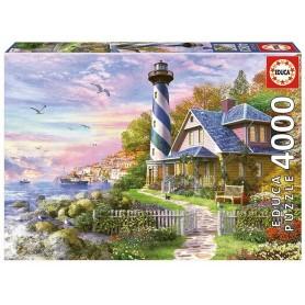 Puzzle Educa Faro en Rock Bay de 4000 piezas