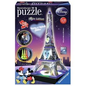 Puzzle 3D Ravensburger Torre Eiffel Disney Night Edition de 216 piezas