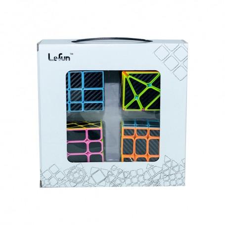 Pack Cubos de Rubik Lefun (Sticker Fibra de Carbono)