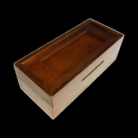 Boîte secrète marron