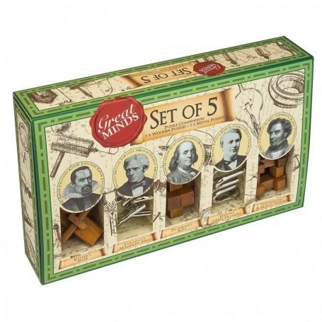Great Minds - Set de 5 rompecabezas Original