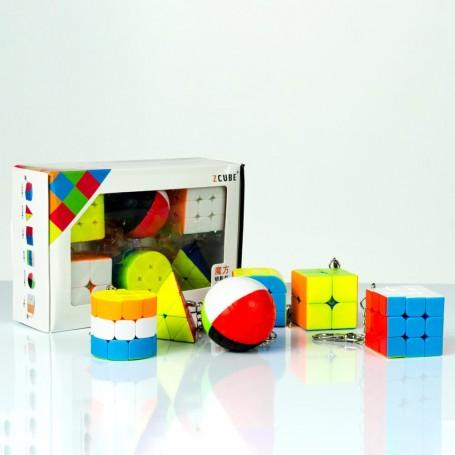 Pack Z-Cube 6 Porte-clés Cube de Rubik