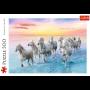 Puzzle Trefl Chevaux blancs au galop de 500 Pièces