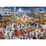 Puzzle Falcon Le carrousel de Noël de 2 x 1000 pièces