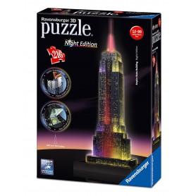 Puzzle Ravensburger Empire State Noche 3D