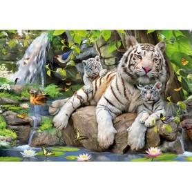 Puzzle Educa Tigres Blancs Du Bengale 1000 Pièces