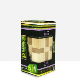 Puzzle Bambú Cubo 3D